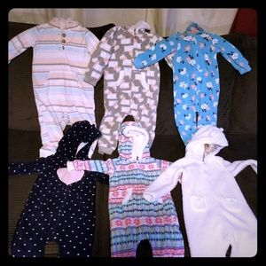 Carter's Fleece Bodysuits